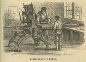 lithography press printing