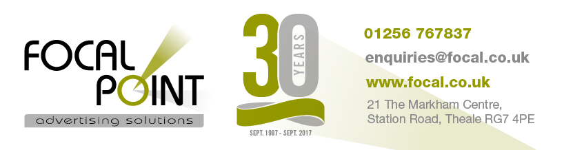 celebrating 30 years of Focal Point Advertising